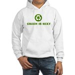 Green is Sexy Recycle Logo Hooded Sweatshirt