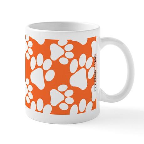 Dog Paws Clemson Orange Mug