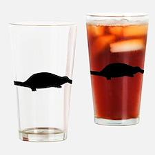 Black Platypus Silhouette Drinking Glass
