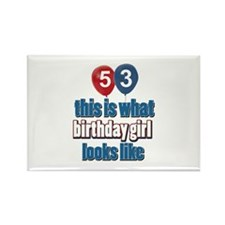 53 year old birthday girl Rectangle Magnet