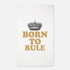 Born To Rule 3'x5' Area Rug