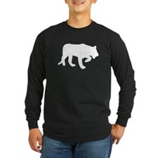 White Panther Silhouette Long Sleeve T-Shirt