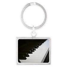 Piano Keys Landscape Keychain