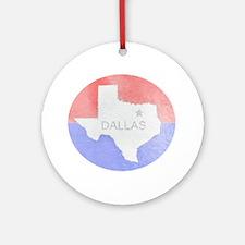 Vintage Dallas Flag Ornament (Round)