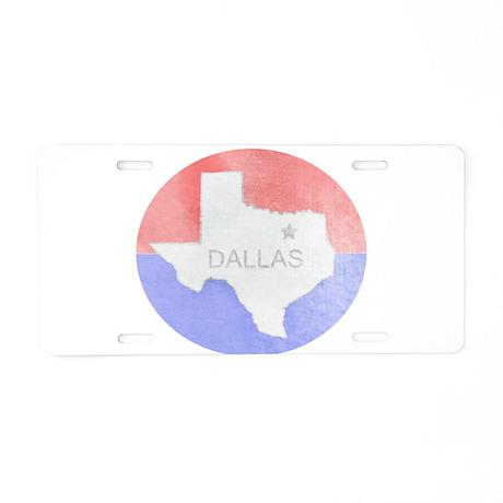 Vintage Dallas Flag Aluminum License Plate