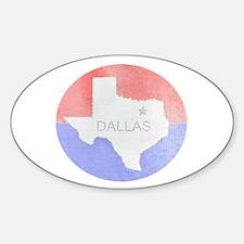 Vintage Dallas Flag Decal