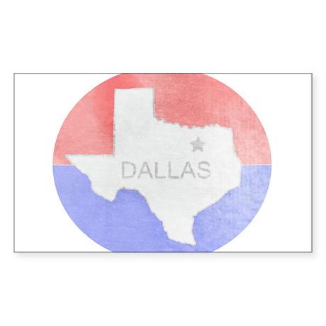 Vintage Dallas Flag Sticker