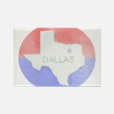 Vintage Dallas Flag Rectangle Magnet