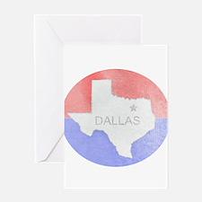 Vintage Dallas Flag Greeting Card