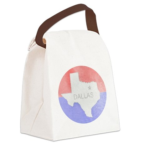 Vintage Dallas Flag Canvas Lunch Bag