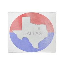 Vintage Dallas Flag Throw Blanket