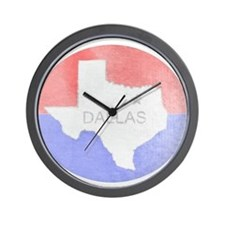 Vintage Dallas Flag Wall Clock