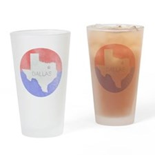 Vintage Dallas Flag Drinking Glass