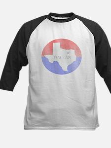 Vintage Dallas Flag Baseball Jersey