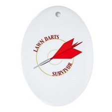 Jarts & Lawn Darts Oval Ornament