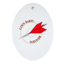 Jarts & Lawn Darts Oval Ornament