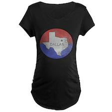 Vintage Dallas Flag Maternity T-Shirt