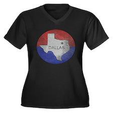 Vintage Dallas Flag Plus Size T-Shirt