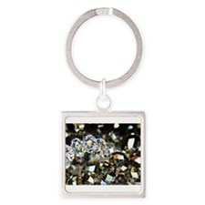 Sparkling Beads Square Keychain