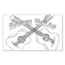 Austin Texas Guitars Decal