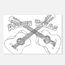 Austin Texas Guitars Postcards (Package of 8)