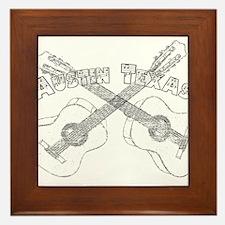 Austin Texas Guitars Framed Tile
