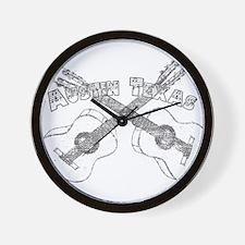 Austin Texas Guitars Wall Clock