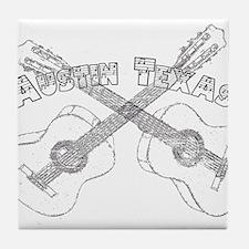 Austin Texas Guitars Tile Coaster