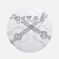 Texas Guitars Ornament (Round)