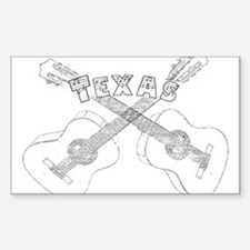 Texas Guitars Decal