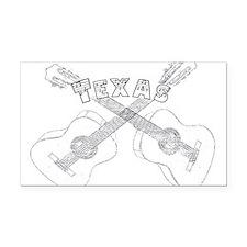 Texas Guitars Rectangle Car Magnet