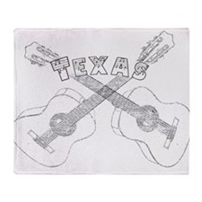 Texas Guitars Throw Blanket