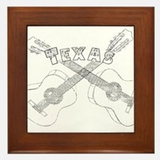 Texas Guitars Framed Tile
