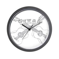 Texas Guitars Wall Clock