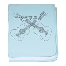 Texas Guitars baby blanket