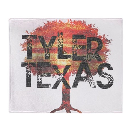 Tyler Texas Tree Throw Blanket