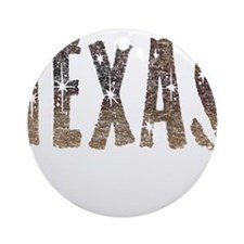 Texas Coffee and Stars Ornament (Round)
