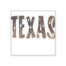 Texas Coffee and Stars Sticker
