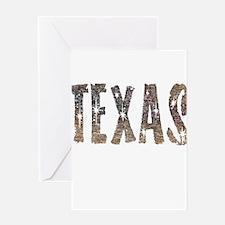 Texas Coffee and Stars Greeting Card