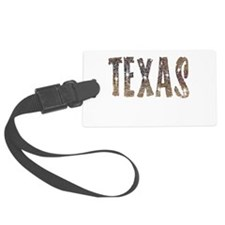 Texas Coffee and Stars Luggage Tag