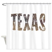 Texas Coffee and Stars Shower Curtain