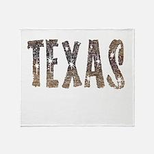Texas Coffee and Stars Throw Blanket