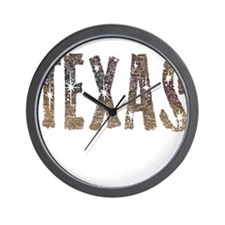 Texas Coffee and Stars Wall Clock