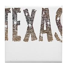 Texas Coffee and Stars Tile Coaster