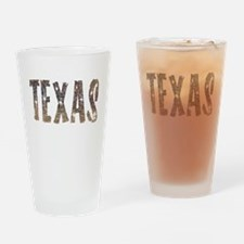 Texas Coffee and Stars Drinking Glass