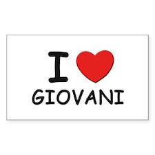 I love Giovani Rectangle Decal