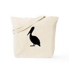 Black Pelican Silhouette Tote Bag