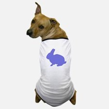Blue Bunny Silhouette Dog T-Shirt