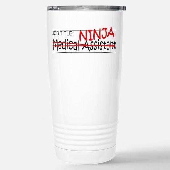 Job Ninja Med Asst Stainless Steel Travel Mug