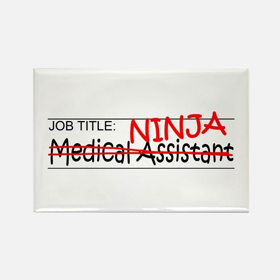 Job Ninja Med Asst Rectangle Magnet (10 pack)